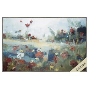 abstract art garden delight multi-colored flowers
