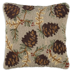 pinecones and pine needles on a throw pillow Chandler 4 Corners