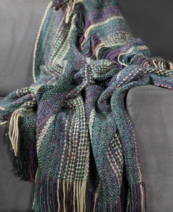 dover thistle woven throw