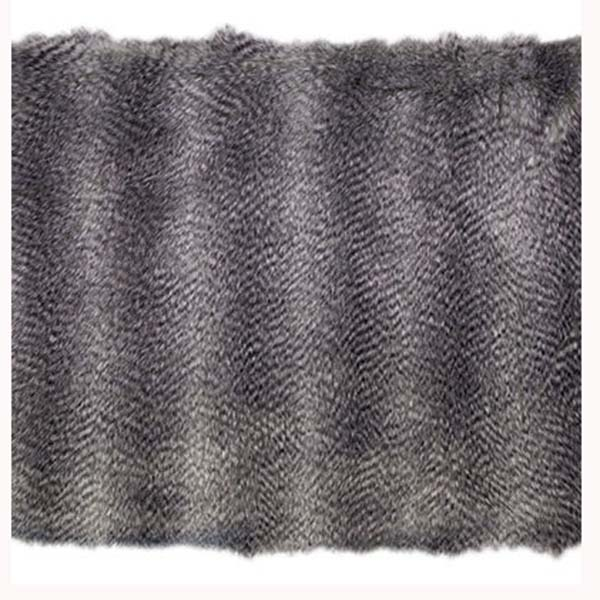 Kenya Silver bedford cottage faux fur throw