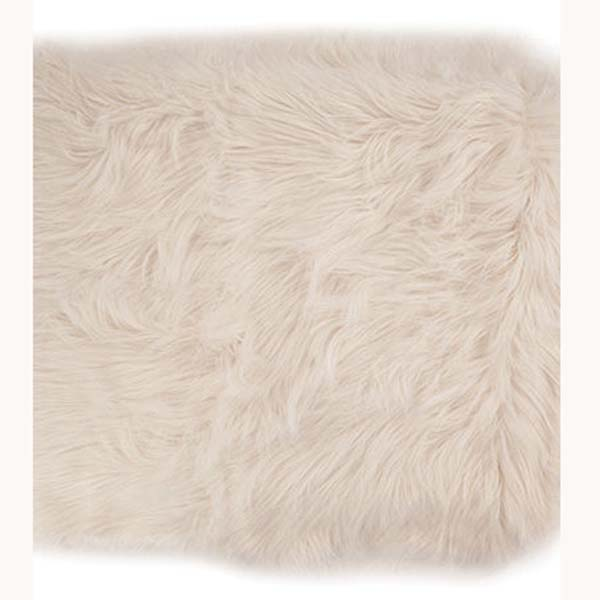 Siberia Ivory bedford cottage faux fur throw