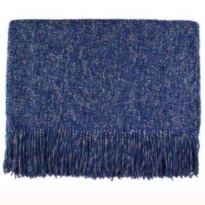 melange steel blue woven throw bedford cottage kennebunk home