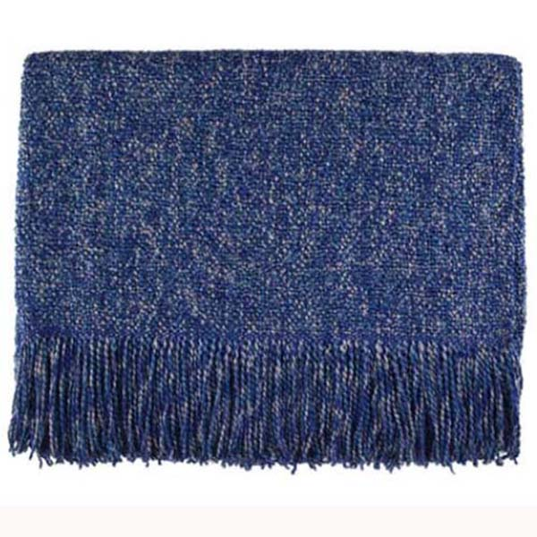 melange steel blue woven throw bedford cottage kennebunk home