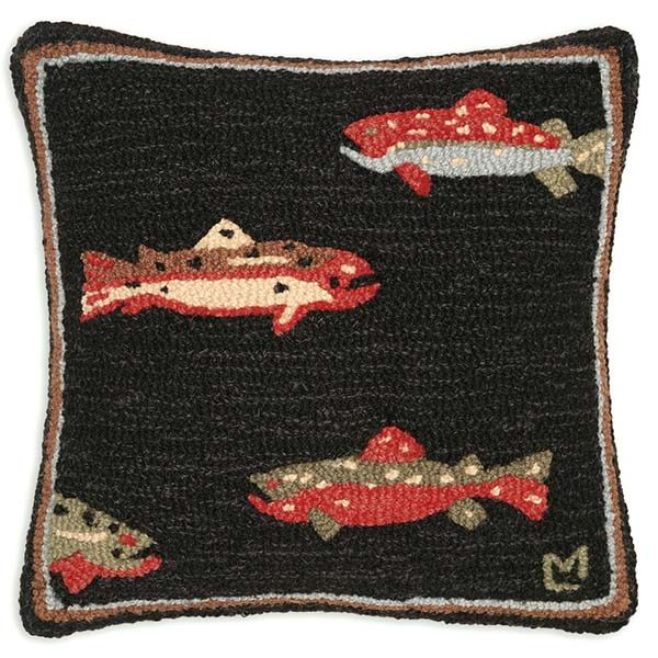 trout fish chandler 4 corners throw pillow