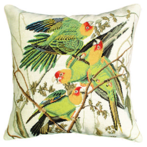 carolina parrot michaelian home throw pillow