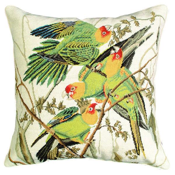 carolina parrot michaelian home throw pillow