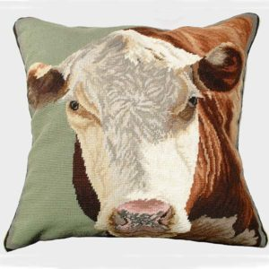 hereford cow michaelian home throw pillow