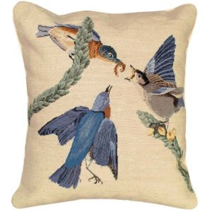 eastern bluebird michaelian home throw pillow