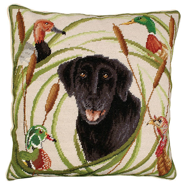 sporting black lab michaelian home throw pillow
