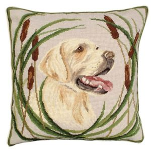 boomer golden lab michaelian home throw pillow