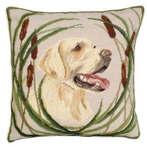 boomer golden lab michaelian home throw pillow