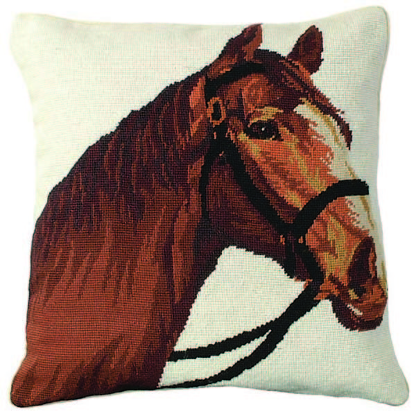 champ horse michaelian home throw pillow