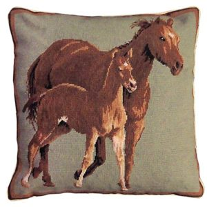 quarter horses michaelian home throw pillow