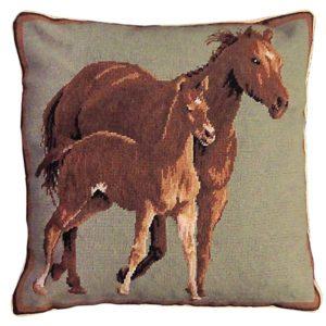 quarter horses michaelian home throw pillow