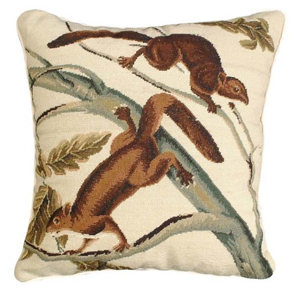 michaelian home throw pillow brown squirrel