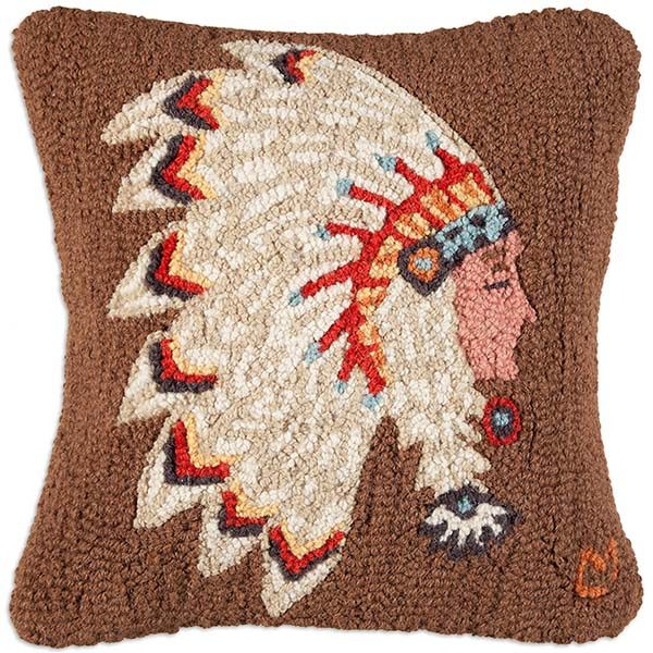 cheftain indian chandler 4 corners throw pillow