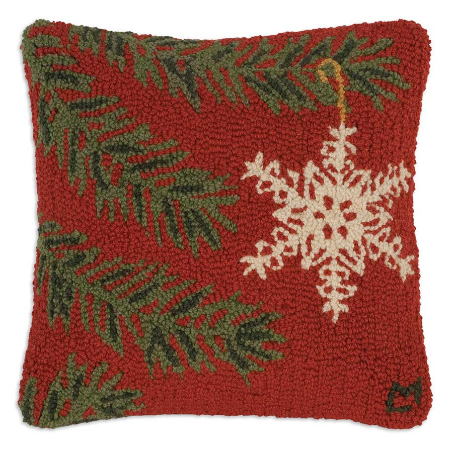 Chandler 4 Corners Ornament Flake throw pillow