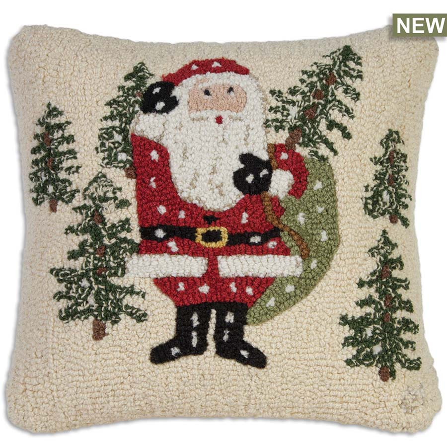 Chandler 4 Corners Santa Picks a Tree Throw Pillow