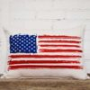 American Flag rectangle pillow little birdie