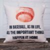in baseball as in life throw pillow little birdie