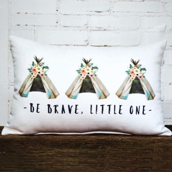 Be brave little one pillow little birdie