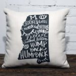 Crooked Letter Mississippi throw pillow