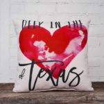 Deep in the Heart of Texas throw pillow