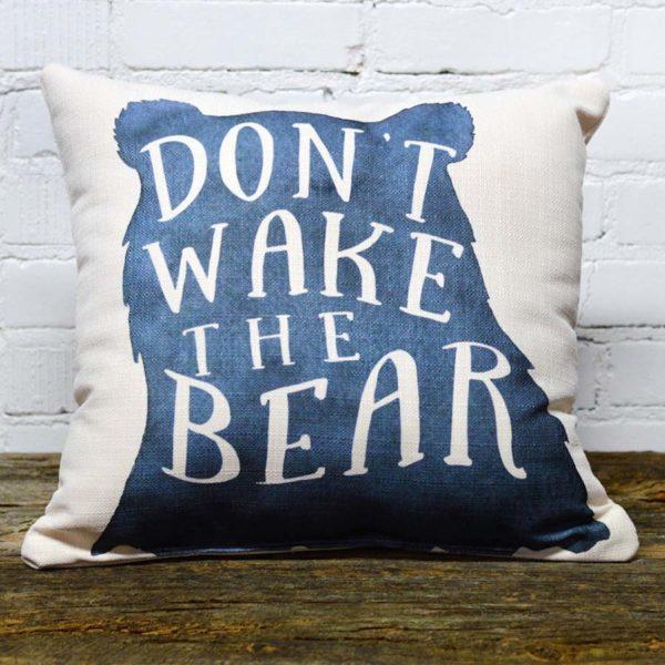 Don't wake the bear little birdie pillow