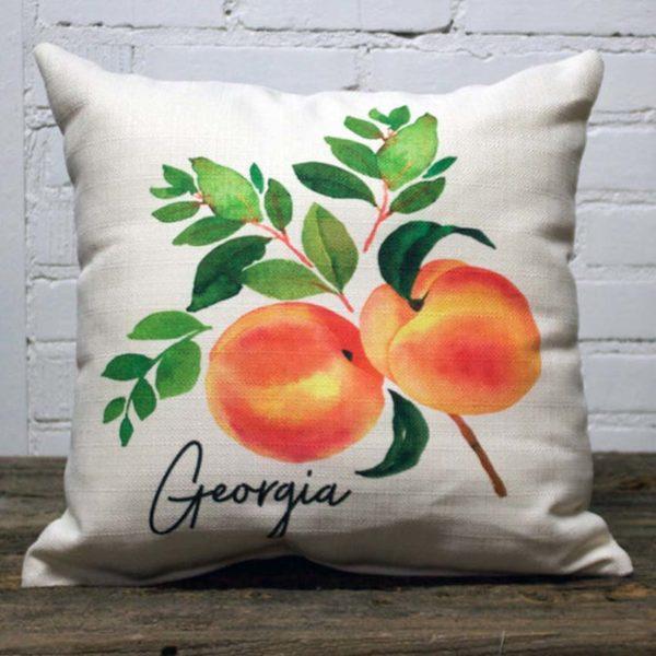 Georgia state flower pillow little birdie