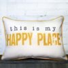 Happy Place, Little Birdie throw pillow