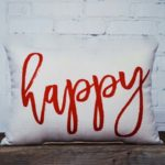 Happy Red, Little Birdie throw pillow