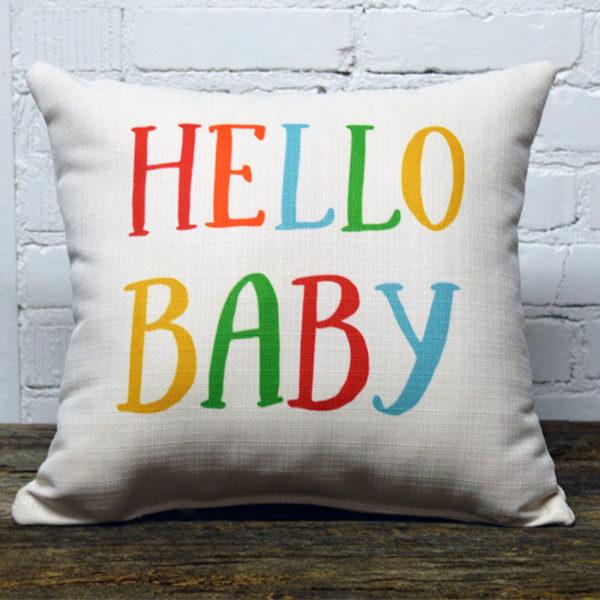 hello baby pillow little birdie