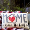 home is where the heart is pillow little birdie