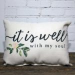 it is well with my soul, the little birdie throw pillow