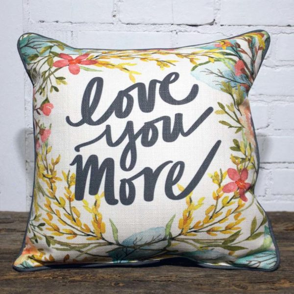 love you more pillow little birdie