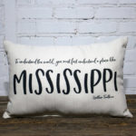 Mississippi William Faulkner pillow little birdie