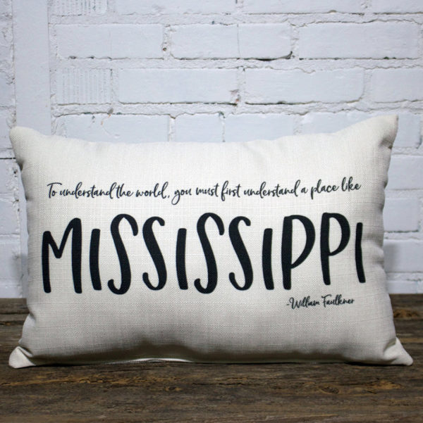 Mississippi William Faulkner pillow little birdie