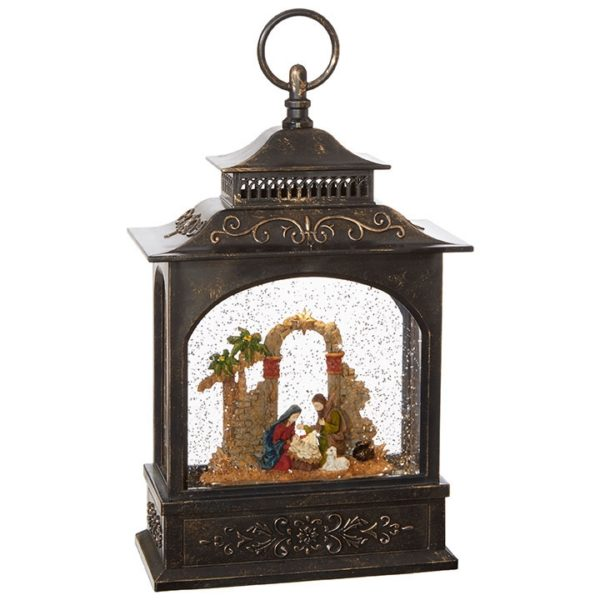Raz Imports Nativity Lighted Lantern Water