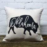 Oklahoma buffalo throw pillow