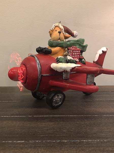 airplane dog ornament raz imports