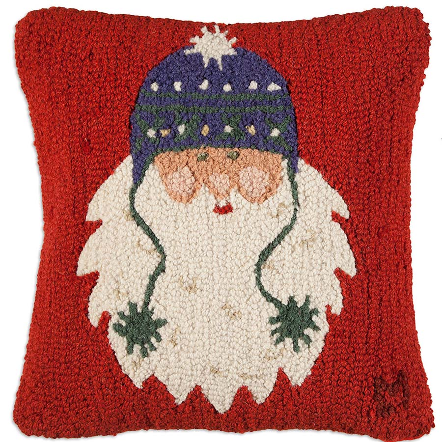 Santa with Pom Poms throw pillow