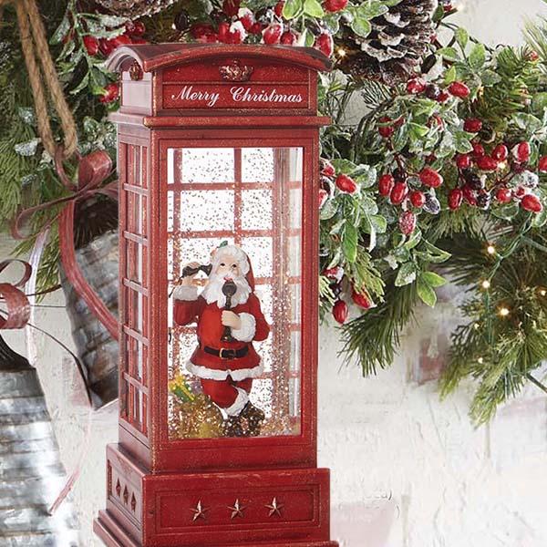 santa telephone lantern