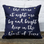 Stars at night pillow little birdie
