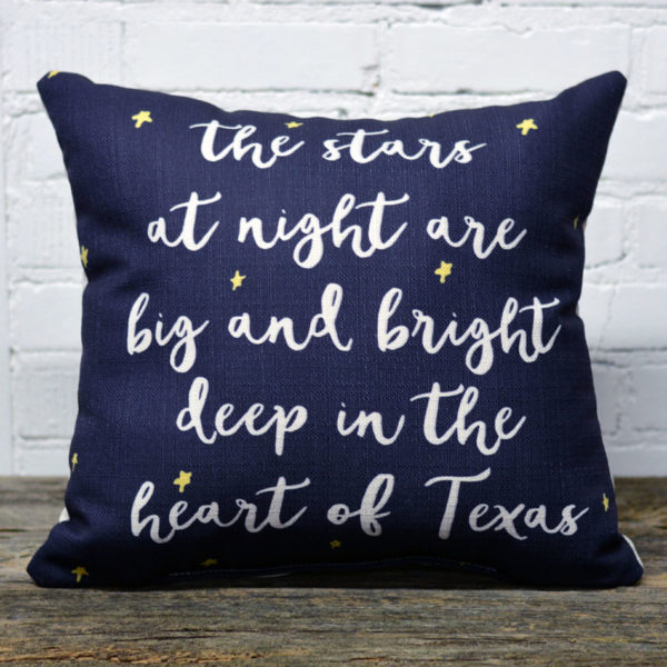 Stars at night pillow little birdie