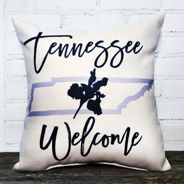 state tennesse welcome pillow little birdie