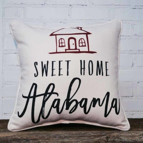 Home Sweet Home Alabama throw pillow Little Birdie