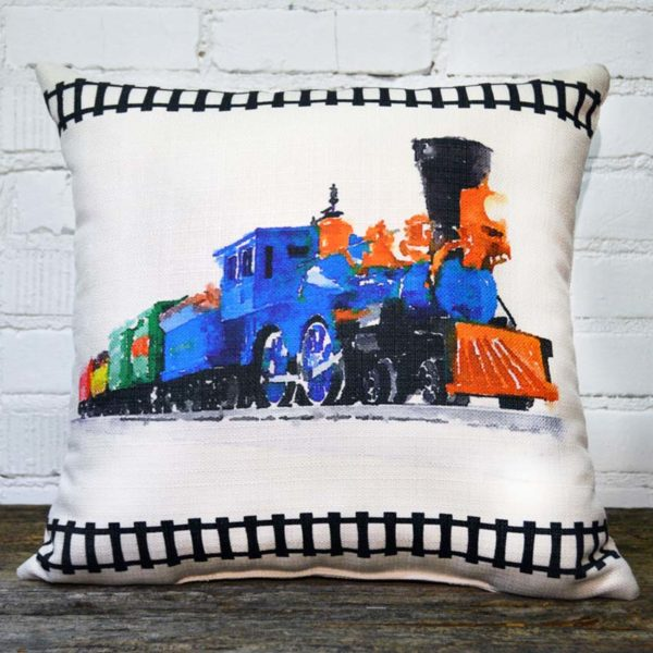 train pillow little birdie