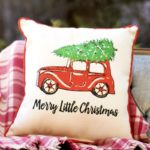 merry little christmas pillow little birdie