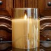 Radiance candle, champagne, light garden, flameless candle, medium