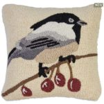 Black Cap Chickadee Chandler 4 Corners Throw Pillow